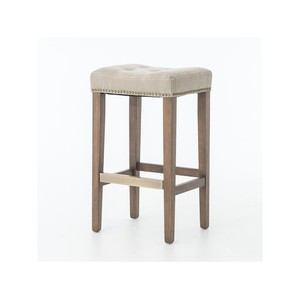 Desert Canvas Sean Barstool with Kickplate | Four Hands
