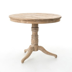 Whitewash Round Occasional Table | Four Hands