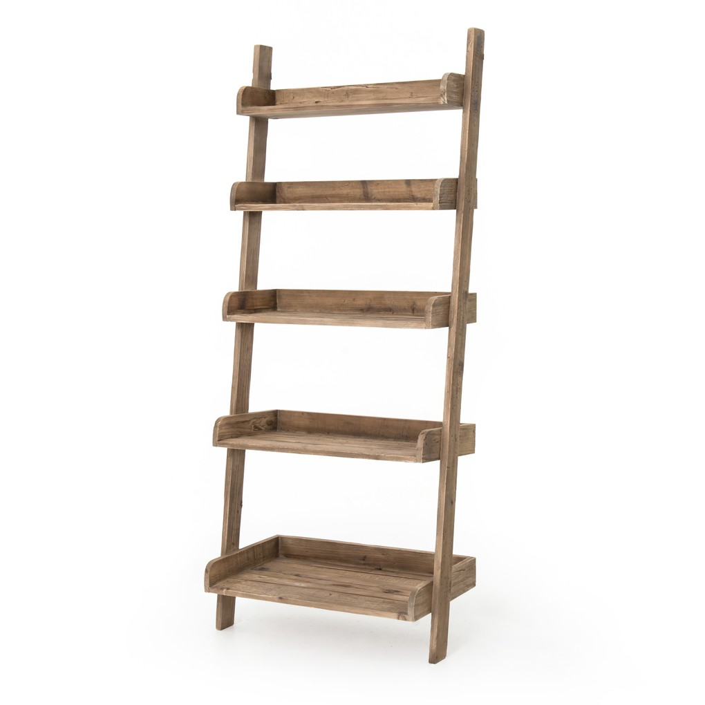 Henshaw Leaning Bookcase   Four Hands