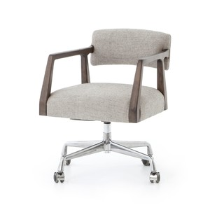 Tyler Desk Chair-Ives White Grey | Four Hands