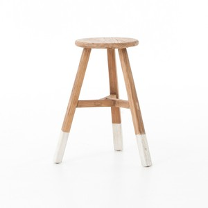White-Dipped Stool   Four Hands