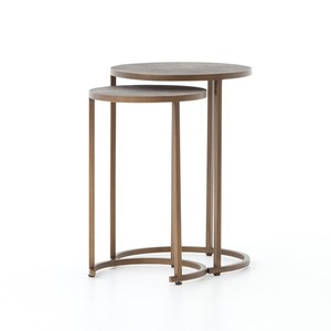 Shagreen Nesting Table (Set of 2) | Four Hands