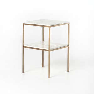 Piet Printed Marble Nightstand | Four Hands