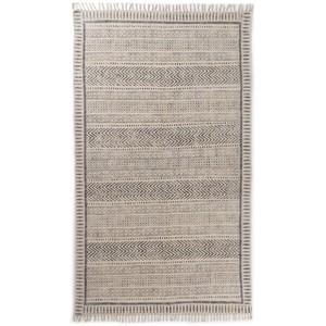 Flatweave Faded Block Print Rug | Four Hands