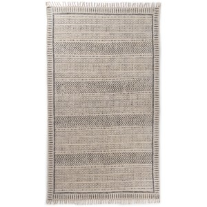 Flatweave Faded Block Print Rug