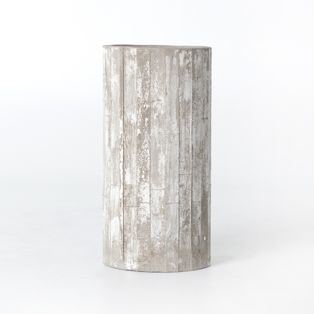 Whitewashed Indoor/Outdoor Planter   Four Hands