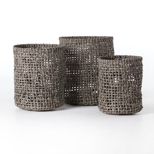 Constantine Indoor/Outdoor Woven Baskets-Set of 3 | Four Hands