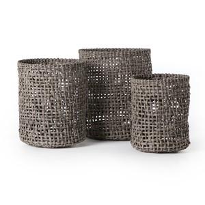 Constantine Indoor/Outdoor Woven Baskets-Set of 3   Four Hands