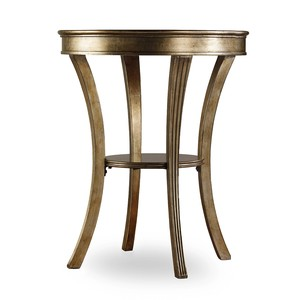Visage Round Mirrored Accent Table | Hooker Furniture