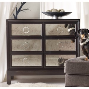 Six-Drawer Mirrored-Front Chest | Hooker Furniture