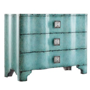 Turquoise Crackle Chest | Hooker Furniture