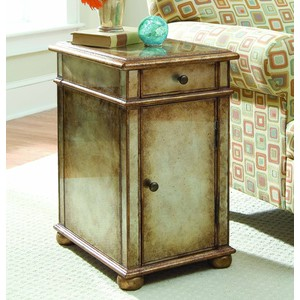 Antique-Mirror Accent Table