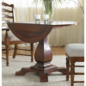 Waverly Place Round Drop-Leaf Pedestal Table | Hooker Furniture