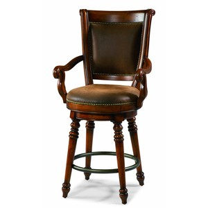 Waverly Place Return Memory-Swivel Counter Stool | Hooker Furniture