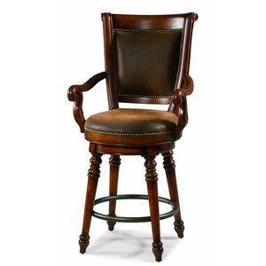 Waverly Place Memory-Swivel Bar Stool | Hooker Furniture