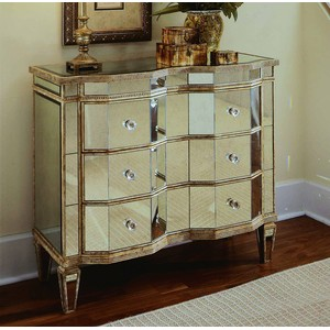 Mirrored Three-Drawer Chest