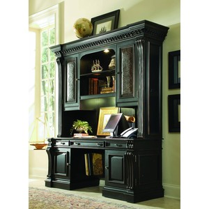 Telluride Computer Credenza with Hutch | Hooker Furniture