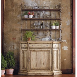 Wakefield Buffett with Metal Hutch | Hooker Furniture