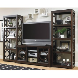 Kinsey Entertainment Console with Etageres | Hooker Furniture