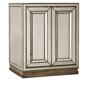 Two-Door Mirrored Nightstand | Hooker Furniture