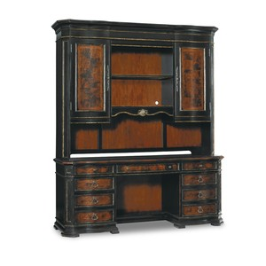 Grandover Computer Credenza with Hutch   Hooker Furniture