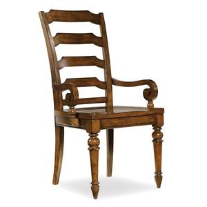 Tynecastle Ladderback Arm Chair | Hooker Furniture