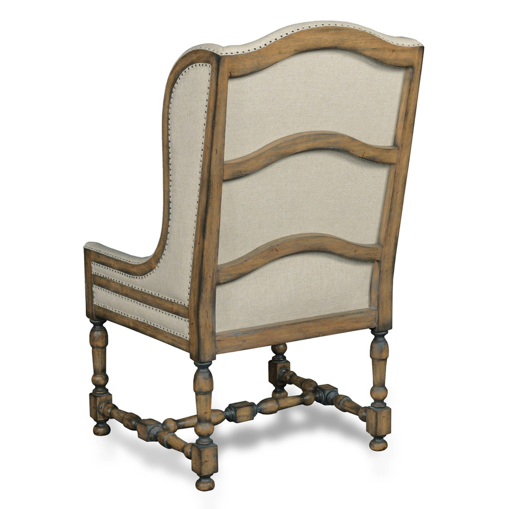 Chateau Linen Arm Chair | Hooker Furniture
