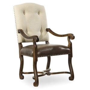 Treviso Camelback Arm Chair | Hooker Furniture