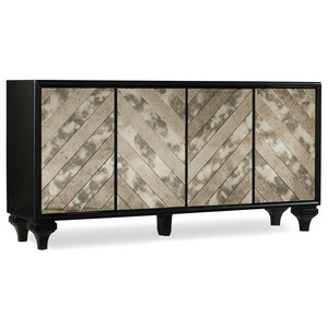 Mirrored Angle Console | Hooker Furniture