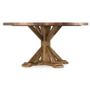 Sanctuary Round Copper Dining Table | Hooker Furniture