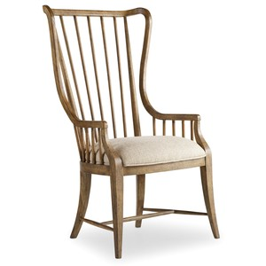Tall Spindle Arm Chair