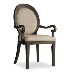 Corsica Dark Oval-Back Arm Chair