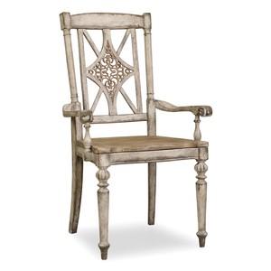 Fretback Arm Chair