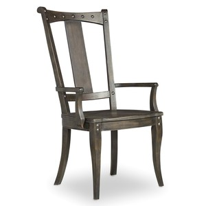 Vintage West Splatback Arm Chair | Hooker Furniture