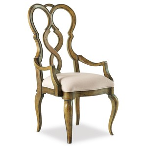 Auberose Splatback Arm Chair | Hooker Furniture