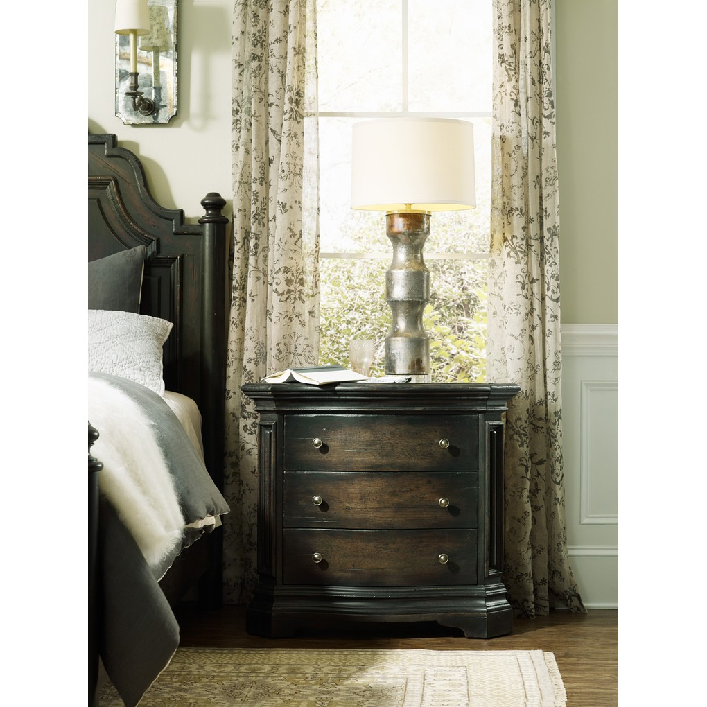 Auberose Three-Drawer Nightstand | Hooker Furniture