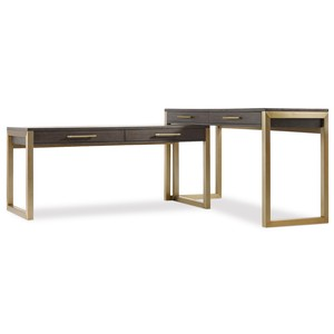 Curata Two-Piece Desk Group | Hooker Furniture