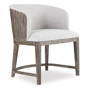 Curata Upholstered Chair w/ Wood Back | Hooker Furniture