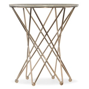 Highland Park Round End Table w/ Marble Top | Hooker Furniture