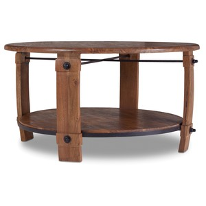 Glen Hurst Round Wine-Barrel Cocktail Table