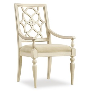 Sandcastle Fretback Arm Chair | Hooker Furniture