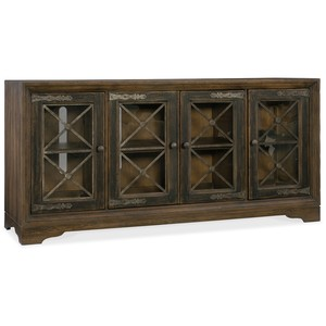 Pipe Creek Bunching Media Console | Hooker Furniture
