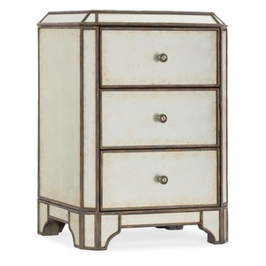 Arabella Mirrored Three-Drawer Nightstand | Hooker Furniture