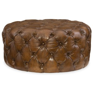 Hazel Round Ottoman | Hooker Furniture
