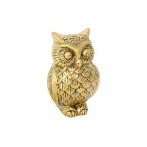 Owl B in Brass | Noir