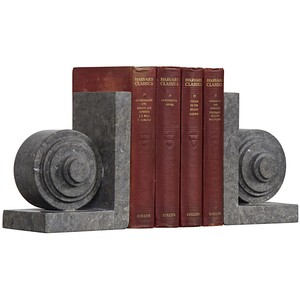 Logan Bookends in Black Marble