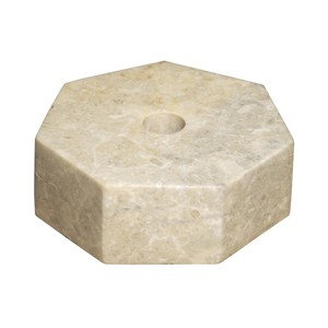 Octagon Candle Holder in White Marble | Noir