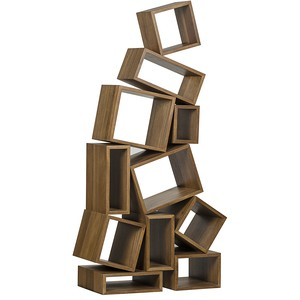 Cubist Bookcase in Dark Walnut | Noir
