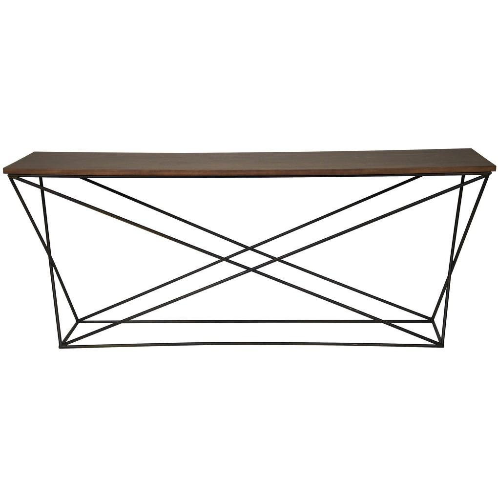 Metal X Base Console Table | Noir