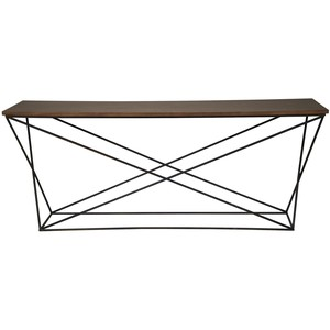 Metal X Base Console Table | Noir